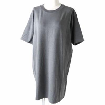 未使用◇正規品 MM6 Maison Margiela エムエム6 メゾン マルジェラ 19年 半袖 ロングシャツ/Tシャツ グレー 灰 レディース M ストレッチ