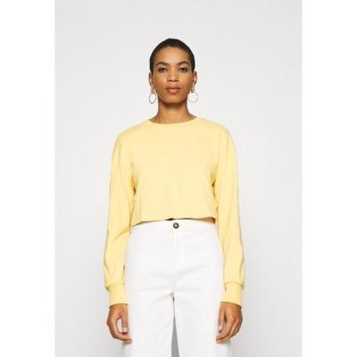 ジン カットソー レディース トップス Botanical dyed - Long sleeved top - light yellow