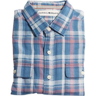 ノーマルブランド The Normal Brand メンズ シャツ トップス check shirt Indigo