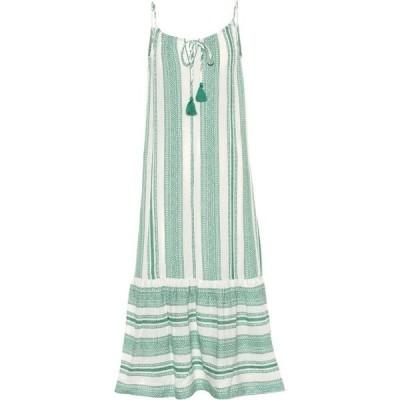 ベルベット グラハム&スペンサー Velvet レディース ワンピース ミドル丈 ワンピース・ドレス lynda patterned cotton midi dress Green