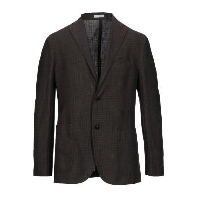 ボリオリ BOGLIOLI テーラードジャケット ダークブラウン 46 リネン 59% / バージンウール 41% テーラードジャケット