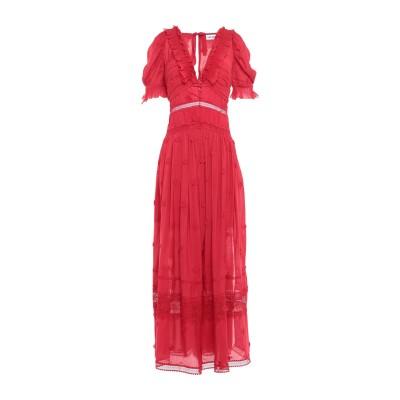 SELF-PORTRAIT ロングワンピース&ドレス レッド 2 レーヨン 82% / ポリエステル 18% ロングワンピース&ドレス