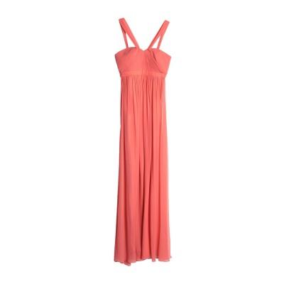 BY MALINA ロングワンピース&ドレス コーラル L シルク 100% ロングワンピース&ドレス
