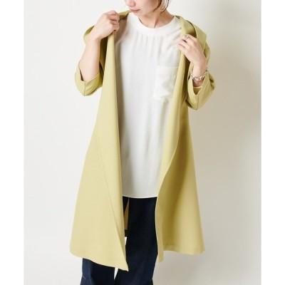 【一枚羽織ればワンランク上のこなれ感が叶います/WEB限定】麻調ブッチャーロングスプリングコート