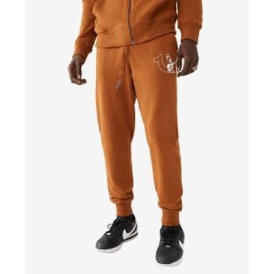 トゥルーレリジョン メンズ カジュアルパンツ ボトムス Men's Half Logo Great Revolt Jogger Sweatpants Caramel