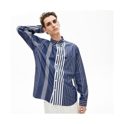 (LACOSTE Mens/ラコステ メンズ)リラックスフィット コントラストストライプボタンダウンシャツ/メンズ ダークブルー
