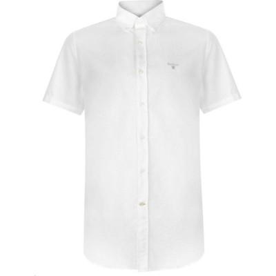 バブアー Barbour メンズ 半袖シャツ ワイシャツ トップス Oxford 3 Short Sleeve Tailored Shirt White WH