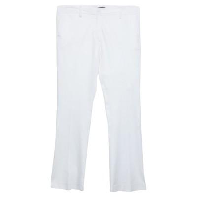メッサジェリエ MESSAGERIE パンツ ホワイト 42 コットン 98% / ポリウレタン 2% パンツ