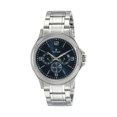 タイタンMen 's ' Neo ' Quartzメタルと真鍮Casual Watch, Color : silver-toned (モデル: 1698sm02?)