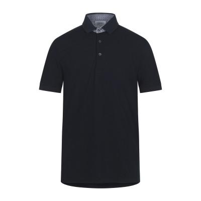 グラン サッソ GRAN SASSO ポロシャツ ダークブルー 52 コットン 100% ポロシャツ