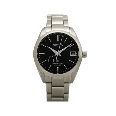 セイコー SEIKO グランドセイコー GS スプリングドライブ パワーリザーブ SBGA085 9R65-0BH0 SS ブラック文字盤 自動巻 メンズ 腕時計 仕上げ済