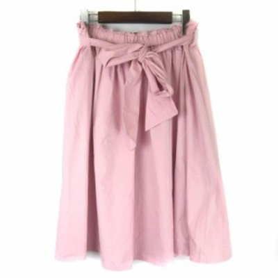 【中古】フランシュリッペ franche lippee 1660660 ギャザーたっぷりスカート ひざ丈 大きいサイズ ピンク FL5