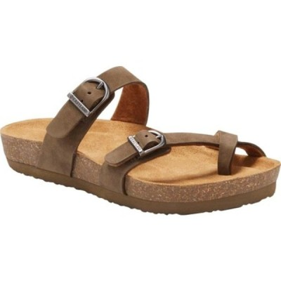 イーストランド サンダル シューズ レディース Tiogo Toe Loop Sandal (Women's) Olive Leather