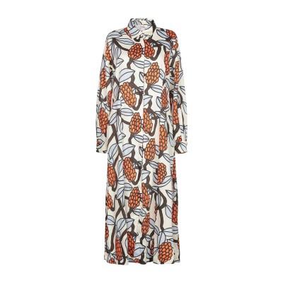 ジャッカ JUCCA ロングワンピース&ドレス アイボリー 44 コットン 100% ロングワンピース&ドレス