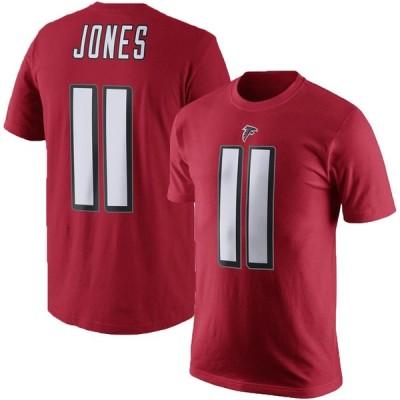 ファルコンズ フリオ・ジョーンズ NFL Tシャツ ネーム&ナンバー エリジブルレシーバー3 マジェスティック/Majestic レッド【OCSL】