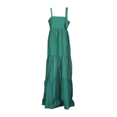 ピンコ PINKO ロングワンピース&ドレス グリーン 38 100% コットン ロングワンピース&ドレス