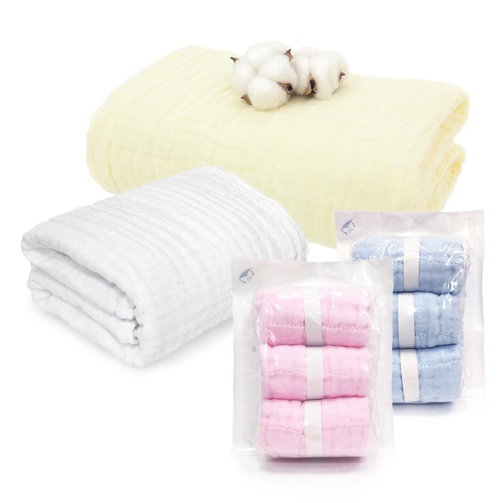 L'Ange 棉之境 純棉紗布 浴巾 蓋毯 小方巾 3層 6層 9層 (現貨) 口水巾 洗澡巾 洗臉巾 餵奶巾 拍隔巾