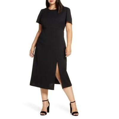 ギブソンルック レディース ワンピース トップス X Fall Refresh Puff Sleeve Dress BLACK