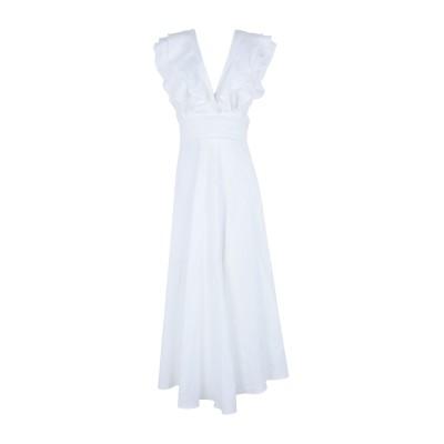 BEC & BRIDGE ロングワンピース&ドレス ホワイト 8 麻 100% ロングワンピース&ドレス