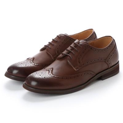 ミッドランドフットウェアーズ Midland Foot Wears midland footwears 0004 ラウンドトゥ外羽根フルグローグ (ミドルブラウン)