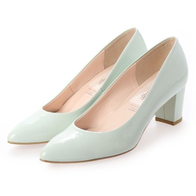 シューズラウンジ shoes lounge エナメル パンプス 7065124MTE (ペパーミント)
