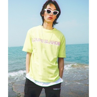 tシャツ Tシャツ 【LOUPS BLANCS 】ダブル ロゴ ティーシャツ