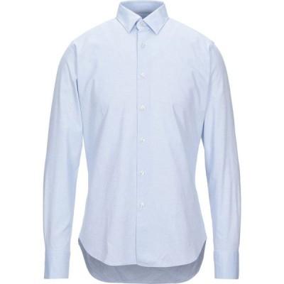 ブローバック BROUBACK メンズ シャツ トップス Patterned Shirt Sky blue