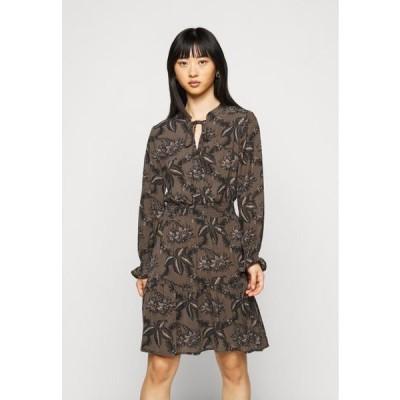レディース ドレス ONLLIMA VERA DETAIL DRESS - Day dress - shaved chocolate