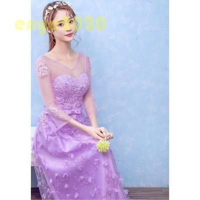 ウェディングドレス ウエディングドレス プリンセスライン 結婚式 花嫁 ロングドレス 披露宴 二次会