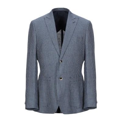 DOMENICO TAGLIENTE テーラードジャケット ダークブルー 48 レーヨン 70% / リネン 30% テーラードジャケット
