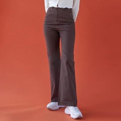 VANILLAMILK レディース ジーンズ Wide Flared trousers
