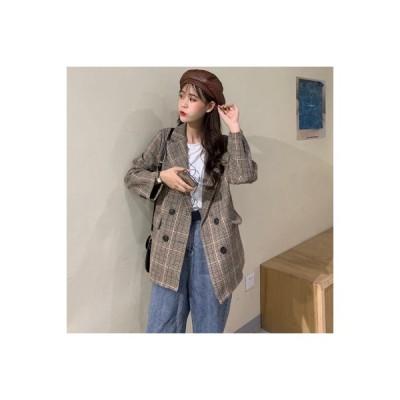 【送料無料】秋冬 年 羊毛の 格子ボーダーのスーツ 短いスタイ | 364331_A63884-5466229