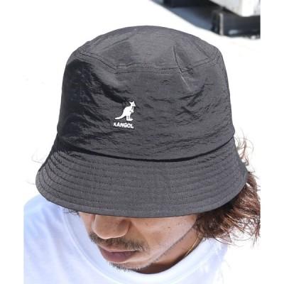 帽子 ハット KANGOL/カンゴール SMU Nylon Bucket Hat ワンポイント刺繍 ナイロン バケットハット