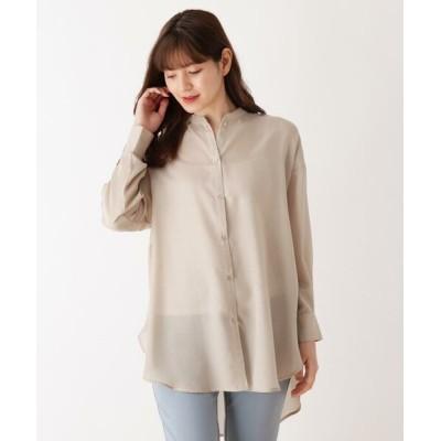 SHOO・LA・RUE/シューラルー シンプルバンドカラーシャツ サンドベージュ(053) 03(L)