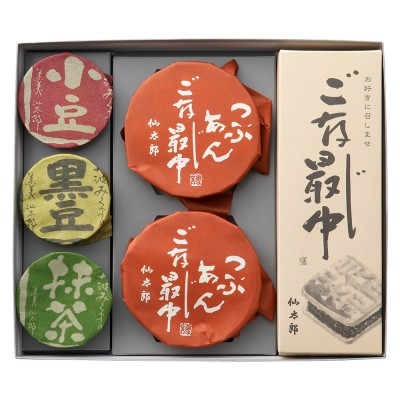 仙太郎 丹波みくまり3缶とお好きにご存じ最中