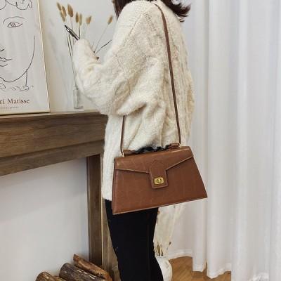 新しい冬の韓国語バージョンのレトロな小さな正方形のバッグチェーンバッグファッションメッセンジャーバッグバッグ