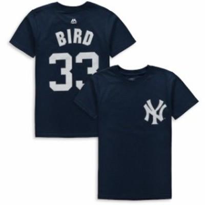 Majestic マジェスティック スポーツ用品  Majestic Greg Bird New York Yankees Youth Navy Player Name & Number T-Shir
