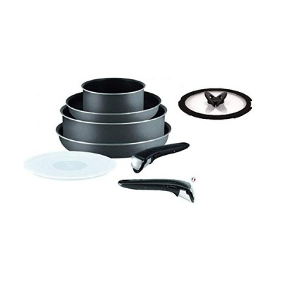 Tefal Ingenio L2047402B Set of 8 Pcs Cookware Saucepan Pots and Pan Set, Grey (For All Heat Sources Except Induction)[並行輸入品]