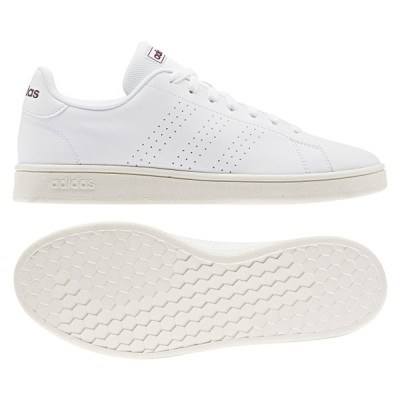 アディダス ADVANCOURT BASE EE7695 メンズ レディース スニーカー:ホワイト adidas 白スニーカー 白靴 通学スニーカー 白スクールシューズ 通学靴
