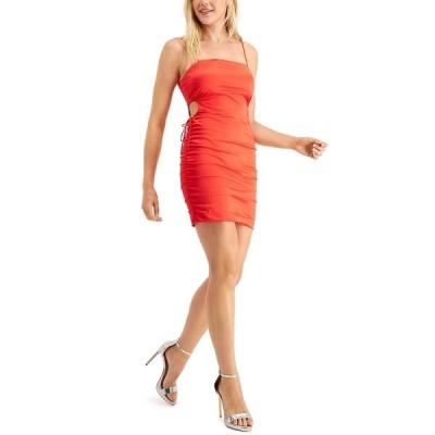 ゲス ワンピース トップス レディース Aisha Ruched Cutout Slip Dress Dynamite Red