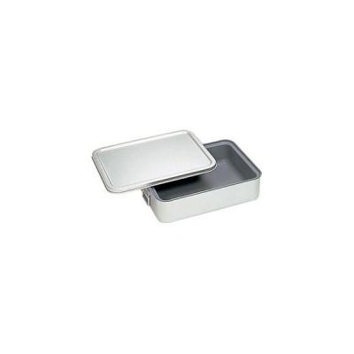 オオイ金属 264-DS アルマイト 角型二重米飯缶 蓋付 内面スミフロン