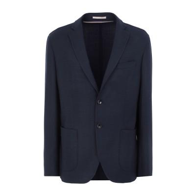 パオローニ PAOLONI テーラードジャケット ダークブルー 48 ウール 83% / ポリエステル 15% / ポリウレタン 2% テーラードジ
