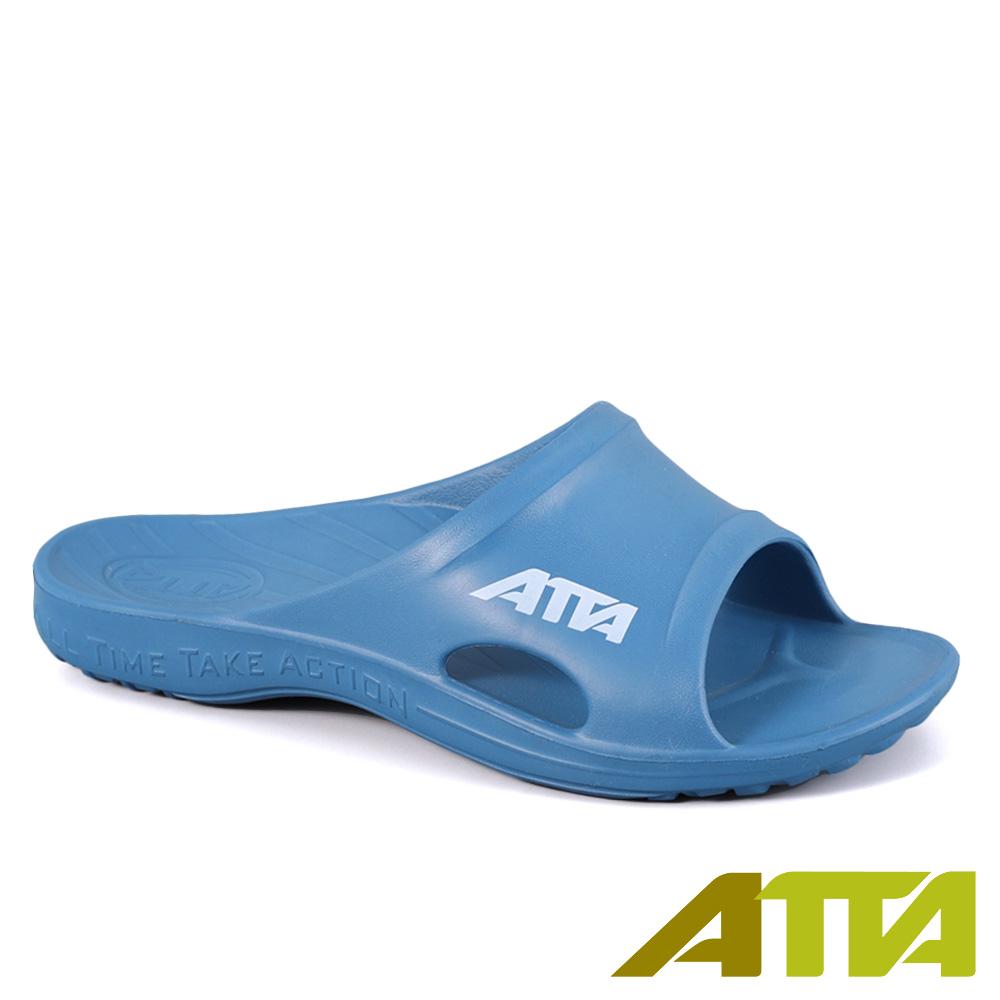 扁平足推薦★ATTA運動風簡約休閒拖鞋-太平洋藍