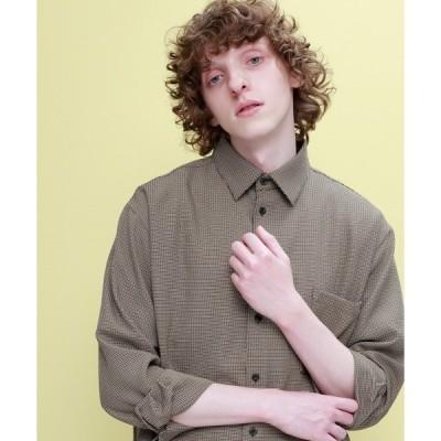 シャツ ブラウス ブライトポプリンリラックススクエア レギュラーカラー シャツ(長袖)