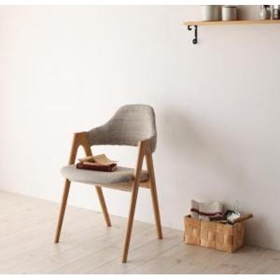 単品 チェア ダイニング チェア いす イス 椅子 / ダイニングチェア 2脚組 2人 チェア:天然木 座面:布張り おしゃれ 北欧