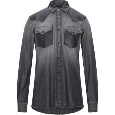 ジャスト カヴァリ JUST CAVALLI メンズ シャツ デニム トップス denim shirt Grey