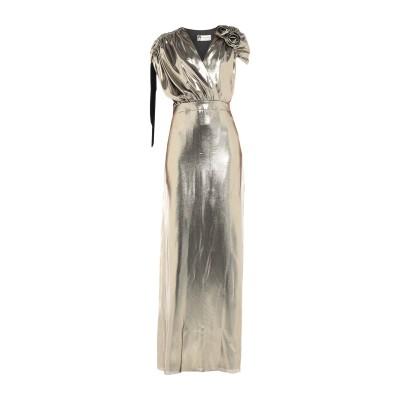 ランバン LANVIN ロングワンピース&ドレス プラチナ 34 シルク 69% / ナイロン 31% ロングワンピース&ドレス