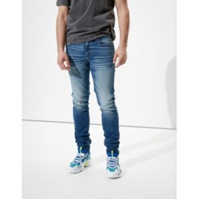 アメリカンイーグル メンズ デニムパンツ ボトムス AE AirFlex+ Stacked Skinny Jean Medium Indigo