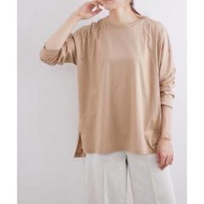 ロペ【おうち服】ルーズフィットサイドスリットTシャツ【お取り寄せ商品】