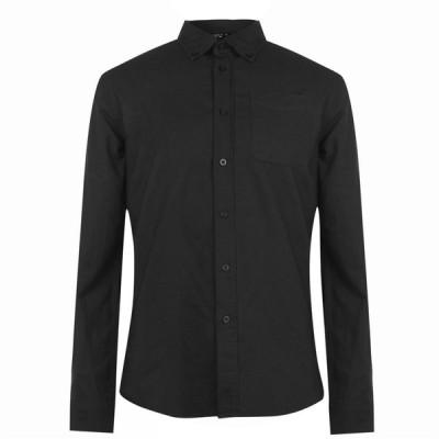 ファイヤートラップ Firetrap メンズ シャツ ワイシャツ トップス Basic Oxford Shirt Black